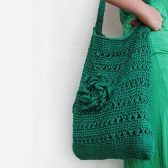 crochet bag emerald