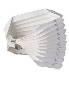 Bracelet | Leila Batten. Sterling silver and origami detail paper. | http://leilabatten.com/