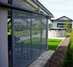 AST PLOTY moderní hliníkové ploty Backyard Pool Designs, Modern Fence, Pergola, Outdoor Structures, Walls, Home Decor, Backyards, Homemade Home Decor, Outdoor Pergola