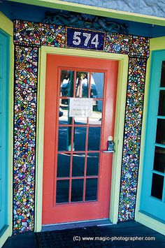 colorful house entrance (Cedar Key, Florida)