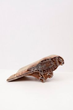 Hand Carved Stamps Bird