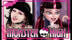 Monster High DRACULAURA makeup and outfit?! // PAHALAPSI