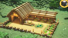 Minecraft Stables, Minecraft Barn, Minecraft Server, Minecraft Building Guide, Minecraft Cottage, Minecraft House Tutorials, Minecraft Castle, Minecraft Medieval, Cute Minecraft Houses