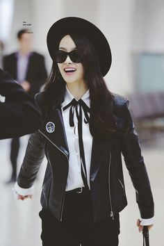 Victoria Song at airport