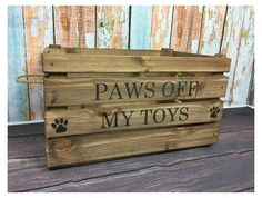 Dog Toy Storage, Toy Storage Baskets, Toy Bins, Personalised Wooden Toy Box, Wooden Toy Boxes, Big Toy Box, Dog Toy Basket, Kids Toy Boxes, Diy Dog Toys