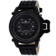 Oceanaut Men's Scorpion Quartz Black Band Black Dial