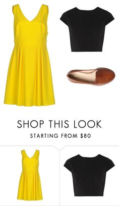 """yellow dress outfit 1"" by jessica-rose-lentz on Polyvore featuring Imperial, Alice + Olivia and Office"