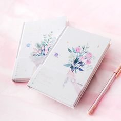 """Flora Garden"" Beautiful Hard Cover Freenote Daily Planner Notebook – essentials and gifts Creative Notebooks, Cute Notebooks, Journals, Cavas Painting, Notebook Covers, Lined Notebook, Diary Decoration, Flora Garden, Sketchbook Cover"