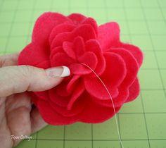 How to make felt flowers tutorial.