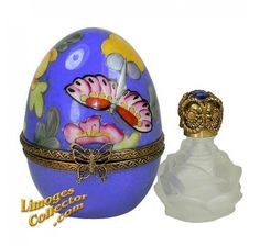 Butterfly & Flowers Egg Perfume Chest (Chamart)