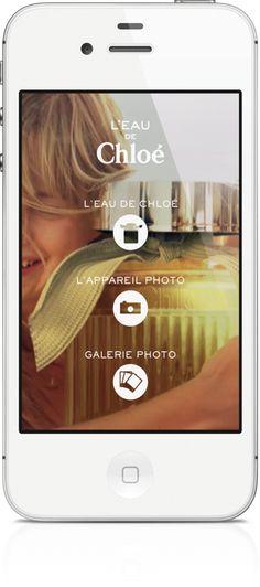 App L'eau de Chloé Mobile Application, Mobiles, Phone, Photo Galleries, Water, Telephone, Mobile Phones
