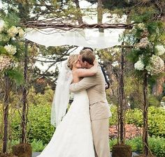 "The chuppah is a representation of the couples first home. The chuppah must have no sides or ""walls', only a cover over the top to show to all that their home is one that will always be open to family and friends. Chic Wedding, Floral Wedding, Perfect Wedding, Wedding Ceremony, Our Wedding, Wedding Flowers, Dream Wedding, Wedding Stuff, Wedding Chuppah"