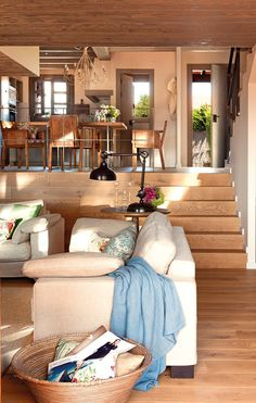 25 Stylish Sunken Living Room And Lounge Design Ideas Sunken Living Room, Cozy Living Rooms, Home And Living, Lounge Design, Spanish Interior, Charming House, Design Case, My Dream Home, Love Home