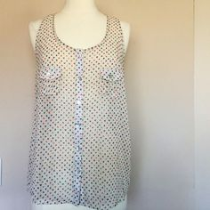 Confetti Color Sheer Racerback Top In excellent condition! Runs true to size! Timing Tops