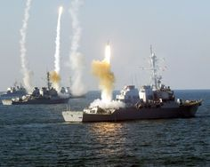 One Cruiser and three Destroyers firing SM-2 missiles. If it flies, it dies.