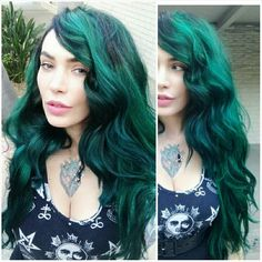 .unless I wear already green extensions or a wig, im never getting my hair that green :( too bad