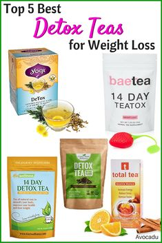 5 Best Detox Teas for Weight Loss - Weight Loss Tea - Te Detox, Detox Tee, Detox Tea Diet, Detox Diet Drinks, Natural Detox Drinks, Smoothie Detox, Fat Burning Detox Drinks, Cleanse Detox, Body Cleanse