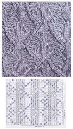 This Pin was discovered by Ner Knitting Room, Lace Knitting Stitches, Lace Knitting Patterns, Knitting Charts, Lace Patterns, Easy Knitting, Stitch Patterns, Crochet Cross, Knit Crochet