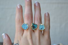 TURQUOISE GALAXY /// Double Banded Turquoise /// Two by luxdivine