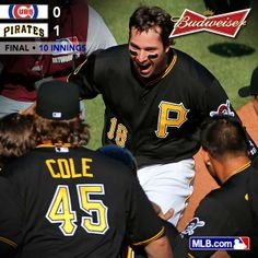 The Hometown Kid, Neil Walker, homers in the 10th inning to win the Pirates 2014 Home Opener on a beautiful spring day at PNC Park!