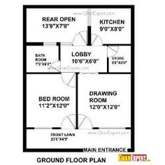 House Plan For 25 Feet By 33 Feet Plot (Plot Size 91 Square Yards)