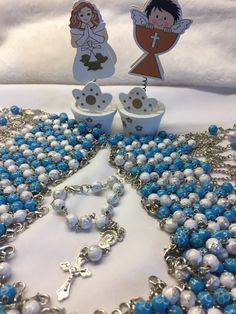 Catholic Mini rosaries Baptism favors for boy and girlFirst