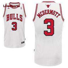 Doug McDermott jersey Chicago bulls #3 white