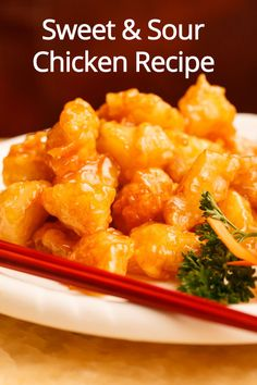 Homemade Chinese Sweet & Sour Chicken Recipe | Melanie Cooks