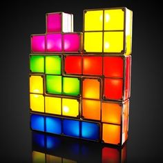Tetris lights, so bright I would love these in the baby room!