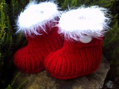 Hand knitted  baby booties 0 to 6 months by Brawlbinbabyknits, £9.50