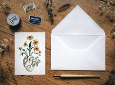 Paper & Party Supplies Paper Stationery #Postcards #Anatomical #Biology #Science #Botanical #Antique #Old #Vintage #Strange #Oddity #Goth #Printed #Typography #Wedding Collection Sunflower #Drawing #Painting 5x7 Unusual Love Doctor Nurse Medical Student Real Human #Blooming #Birthday #Unique #Freak #Fantasy Dia de los Muertos