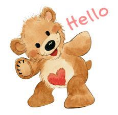Hello Pictures, Teddy Bear Pictures, Cute Pictures, Cute Cartoon, Cartoon Art, Zoo Clipart, Animated Frog, Hugs And Kisses Quotes, Zoo Art