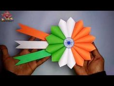 Independence Day Badge Making 3rd Idea || Beautiful Badge Republic day - YouTube Independence Day Activities, Independence Day Decoration, Indian Independence Day, Patriotic Party, Patriotic Crafts, July Crafts, Paper Crafts Origami, Origami Art, Republic Day India