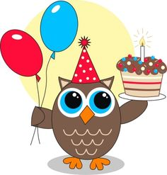 View album on Yandex. Birthday Clips, Owl Birthday Parties, Happy Birthday Messages, Birthday Greetings, Owl Theme Classroom, Owl Wallpaper, Owl Cartoon, Owl Pictures, Owl Patterns