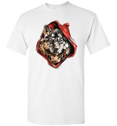Wolf Print Tshirt   Cool Graphic Red Ridin' Wolf Design on TshirtFind out more at https://www.anzstyle.com/products/wolf-print-tshirt-cool-graphic-red-ridin-wolf-design-on-tshirt #tee #tshirt #named tshirt #hobbie tshirts #Wolf Print Tshirt   Cool Graphic Red Ridin' Wolf Design on Tshirt