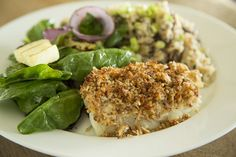 Pecan-crusted White Fish by Blackberry Market.