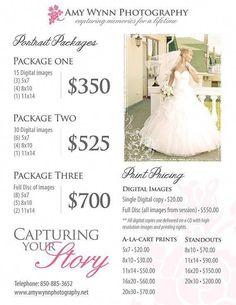 Wedding Budget Wedding Photography Price List Session by PhotographTemplates Photography Price List, Wedding Photography Pricing, Wedding Photography Packages, Photography Marketing, Photography Packaging, Wedding Photography Poses, Photography Business, Photography Ideas, Winter Photography