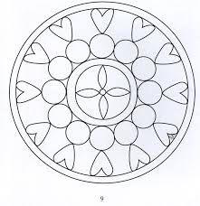 Blomster Mandala Tegninger