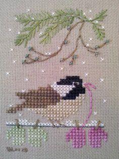 Button Up Birdies Chickadee by Victoria Sampler