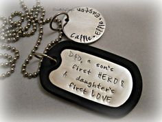 Personalized Hand Stamped Fathers Day DAD A by DanielleJoyDesigns