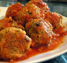 My favorite meatballs (I couldn't get an image for the ones on foodnetwork).  The recipe can be found at: http://www.foodnetwork.com/recipes/sunny-anderson/sunnys-spicy-spaghetti-with-mega-meatballs-recipe/index.html.  I only make the meatballs from this recipe because I make my own sauce.  These taste great and they don't fall apart!  My boyfriend is crazy about them!