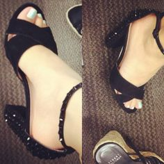 New shoes from DSW - Black crystal studded Dolce Vita heels   LUUUX