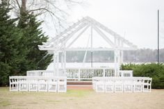 outdoor wedding ceremony setup at Sunday Park
