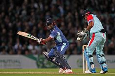 Brian Lara and MS Dhoni battling it out at Cricket, Ms, Battle, Baseball Cards, Sports, Hs Sports, Sport