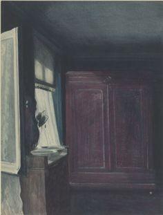 Léon Spilliaert – La chambre à coucher, ca. 1908 | Musées royaux des Beaux-Arts de Belgique