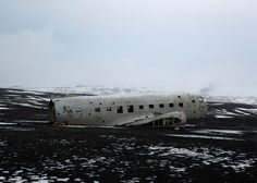DC plane ran out of fuel and crashed on the black beach at Sólheimasandu Iceland.