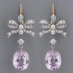 Edwardian Kunzite Earrings