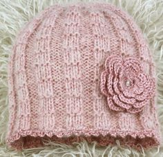 Rosa jentelue 4-6 år Knit Hats, Crochet Hats, Knitting, Bags, Design, Fashion, Paper Pieced Patterns, Tricot, Knitting Hats