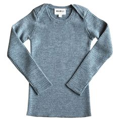 An all-time favorite, the Sylfaen skinny rib top in extra-fine merino wool, with ribbed long-sleeves by Mabli is back this season. This top is in a neutral eggshell. Capri Blue, Ribbed Top, Workout Tops, Top Sales, Long Sleeve Tops, Kids Fashion, Men Sweater, Skinny, Pullover