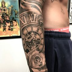 Healed Sleeve⚡️⚡️⚡️ thanns @sammarina1 #blackandgreytattoo #sleevetattoo #angeltattoo #rosetattoo #pocketwatchtattoo #ink #inked #tattoo #inkmagazine #inkedmag #healedtattoo